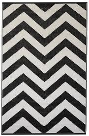 Black And White Outdoor Rug Fab Hab Laguna Black White Indoor Outdoor Rug Mat 120 Cm X