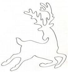 flying reindeer pattern printable outline crafts