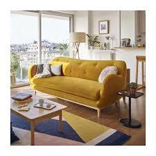 seat sofa melchior 3 seat sofa made of velvet mustard habitat