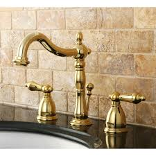 Washerless Faucets Kingston Brass Kb1971al Heritage Widespread Lavatory Faucet