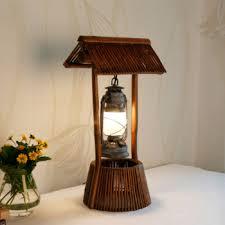 Bamboo Desk Lamp Bamboo Table Lamp Loft Retro Coffee Shop Table Lamp Wood Vintage