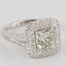 cushion ring 2 84 tcw i vs1 cushion cut diamond split shank halo engagement