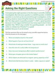 asking the right question u2013 scientific method printables for kids