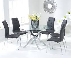 Circle Glass Table And Chairs Round Table For 6 U2013 Medicaldigest Co