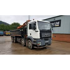 man tga 32 360 8x4 tipper grab 2007 manual gearbox commercial