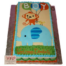 baby shower boy cakes 1151 monkey elephant boy baby shower cake abc cake shop bakery