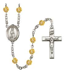 birthstone rosary our of fatima rosary glass birthstone colors