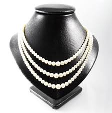 pearl necklace lengths images 3 strand pearl necklace with 14 kt gold clasp length 40 43 47 jpg