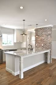 fancy kitchens with brick walls 40 in home design interior with