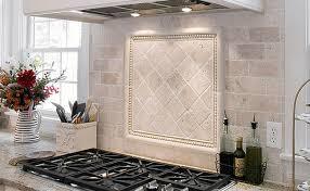 kitchen tile backsplash ideas with white cabinets black counter top white brick traverteen splash antiqued ivory