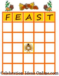 a family thanksgiving bingo