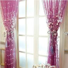 Lace Fabric For Curtains Luxury Romantic Lace Fabric Girls Tulle Yarn Window Sheer Curtain