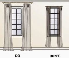 How Wide To Hang Curtains Hang Curtains Up To The Ceiling To Make A Low Ceiling Look Taller