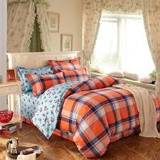 Plaid Bed Sets New Plaid Bedding Set 100 Cotton Duvet Cover Bed Sheet Clothes