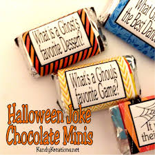 halloween joke miniature chocolate wrapper printables everyday
