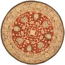 safavieh anatolia rust green 4 ft x 4 ft round area rug an512g