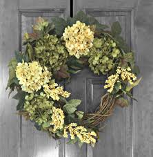 hydrangea wreath summer wreath front door wreaths green hydrangea wreath door