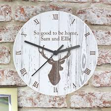 personalised highland stag clock by thelittleboysroom