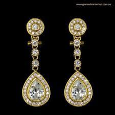 gold earrings for wedding bridal earrings the ivory room drop earrings wedding