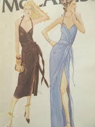 vintage dress 70 s slinky vintage mccall s 6575 sewing pattern bob mackie design 1970s dress