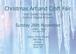 christmas art and craft fair on 26 november at 10 00