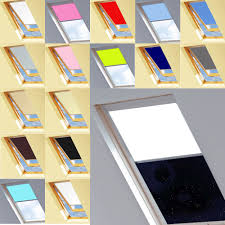 blackout roof roller blinds for optilight windows ebay