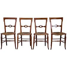 Gothic Furniture For Sale by English Gothic Dining Chairs With Rush Seats 1800s For Sale At