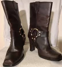 s boots calf size michael kors brown leather s boots size 5 m mid calf ebay