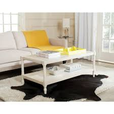 acme furniture canty coffee table in white and rose gold 81860