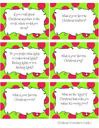 christmas conversation cards free printable conversation starters