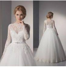 Wedding Dresses With Sleeves Uk Lace Queen Ann Wedding Dresses Ebay