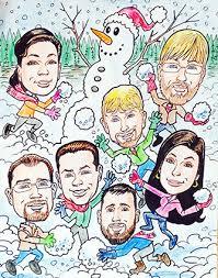 caricature corporate or family caricature