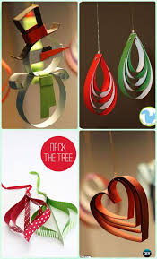 diy paper tree ornament craft ideas