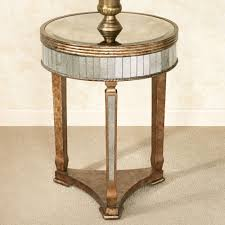 round silver accent table bedroom furniture narrow custom diy mirrored nightstand with