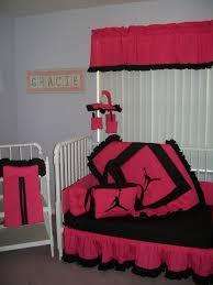 fascinating pink and black crib bedding sets beautiful home