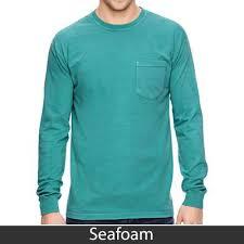 Comfort Colors Shirts Comfort Colors Custom Printed Sorority Long Sleeve T Shirt With Pocket