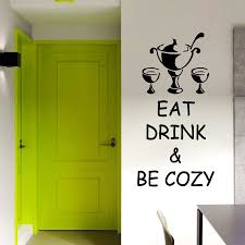 online get cheap wine wall decals aliexpress alibaba group dctop eat drink and cozy wine glasses wall sticker creative removable diy waterproof kitchen