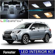 white subaru forester interior amazon com ledpartsnow 2015 2017 subaru forester led interior