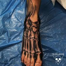 skeleton foot tattoo best tattoo ideas gallery
