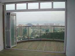folding door glass white color double glass aluminum bi folding doors id 7105376
