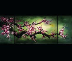 wall ideas feng shui painting wall art decor chinese cherry