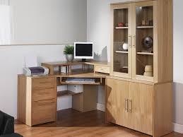 glass door hutch office furniture cool computer desk cabinets pull out keyboard