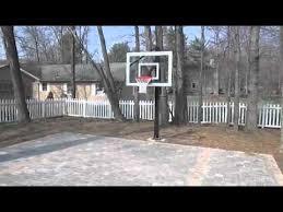 Backyard Basketball Half Court Brick Paver Backyard Basketball Court Youtube