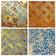 chiyogami patterns originated from traditional japanese designs of