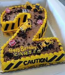 construction cake ideas construction cake idea using a number one construction cakes