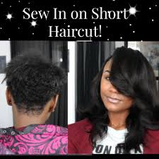 sew in on short haircut youtube