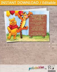 winnie the pooh birthday invitation images invitation design ideas