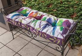 Bench Cushions Indoor Flocked Together Songbirds Indoor Outdoor Bench Cushion Bench