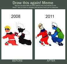 Draw This Again Meme Template - draw it again naruto and kakashi by jkloljklolohwell on deviantart