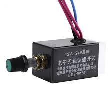 fan motor speed control switch universal dc 12v 24v motor speed controller switch for car truck fan
